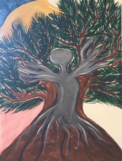"""""""Crecimiento del Alma,"""" a painting by Karen"""