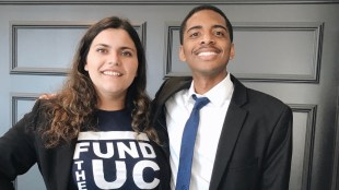 From left to right: Caroline Siegel-Singh, Davon Thomas. Photo courtesy of Caroline Siegel-Singh.