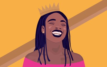A graphic of Kiyahna Brown