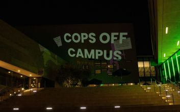 Image from UCSD Cops off Campus protest Spring 2020.