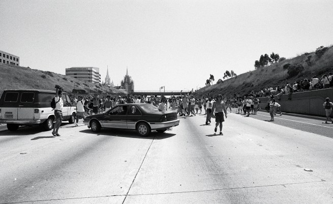 Interstate 5 Student Protest Against Rodney King Verdict 1992