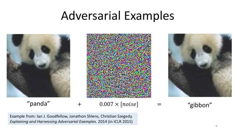 Adversarial Example: Hình ảnh được thêm nhiễu để đánh lừa mạng nơ ron.