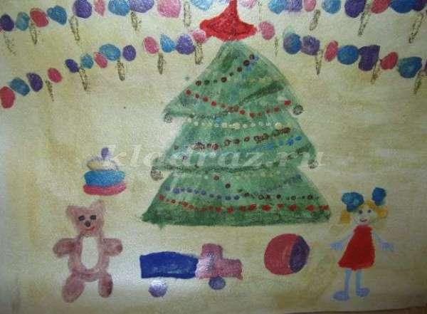 Детские рисунки на тему новый год: зима картинки ...