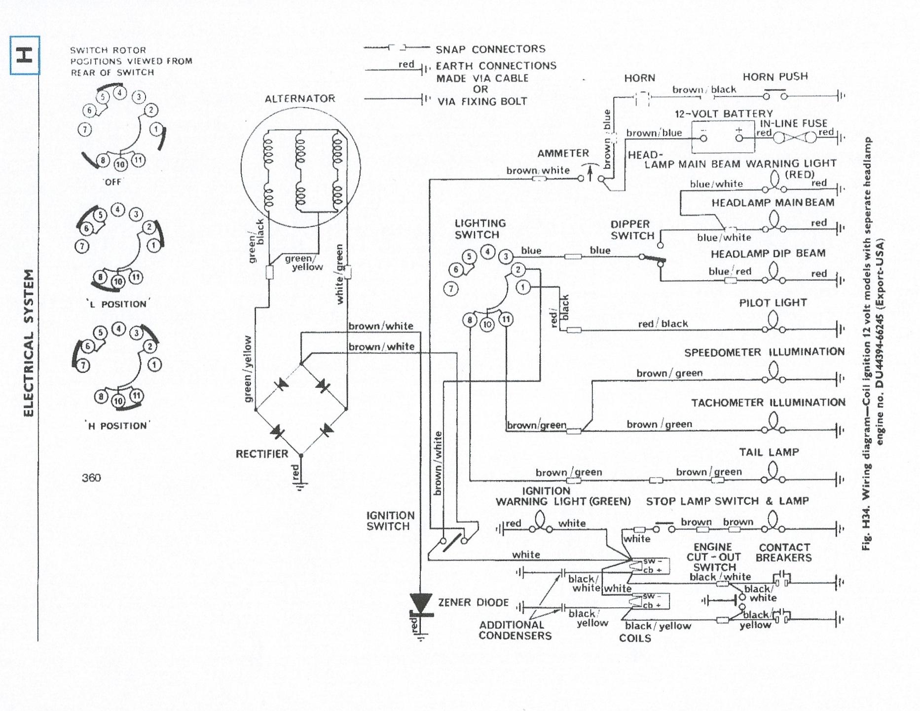1976 Triumph Tr6 Wiringdiagram Related Keywords Suggestions Wiring Diagram For Tr7 76