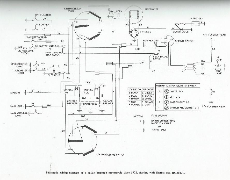 triumph t120 bonneville wiring diagram triumph bonneville