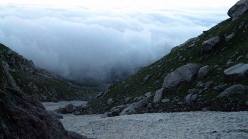 Blanket of Clouds over Triund Hill and Dharamshala