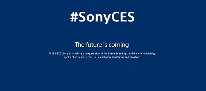 "Sony ""falará do futuro"" na próxima semana na CES 1"