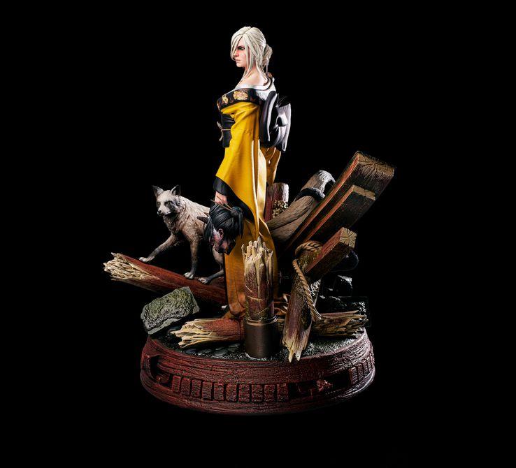 The Witcher: CD Projekt RED revela estatueta de Ciri usando um kimono 2