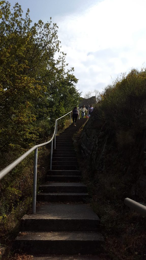 Cetatea Poenari - o parte din trepte