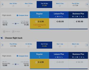 Timisoara- Bruxelles return flight