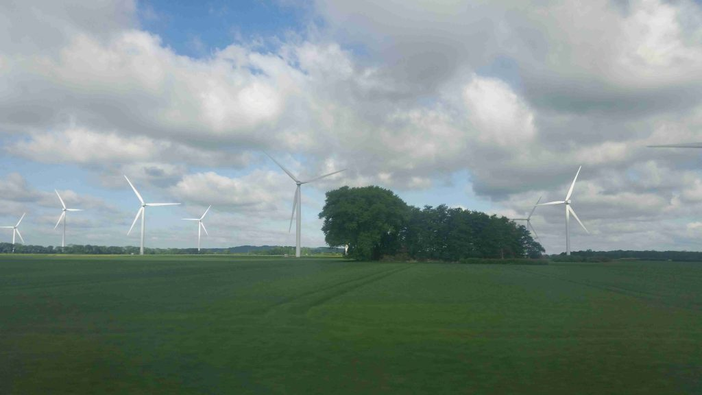 Goteborg to Malmo - green energy for green life - windmills