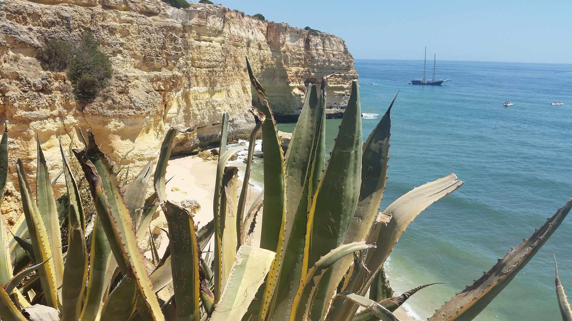 Lagao - Algarve - Praia da Marinha - hidden and inaccessible part of the beach