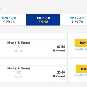 Timisoara - Bucuresti - 6 iunie - 10 euro