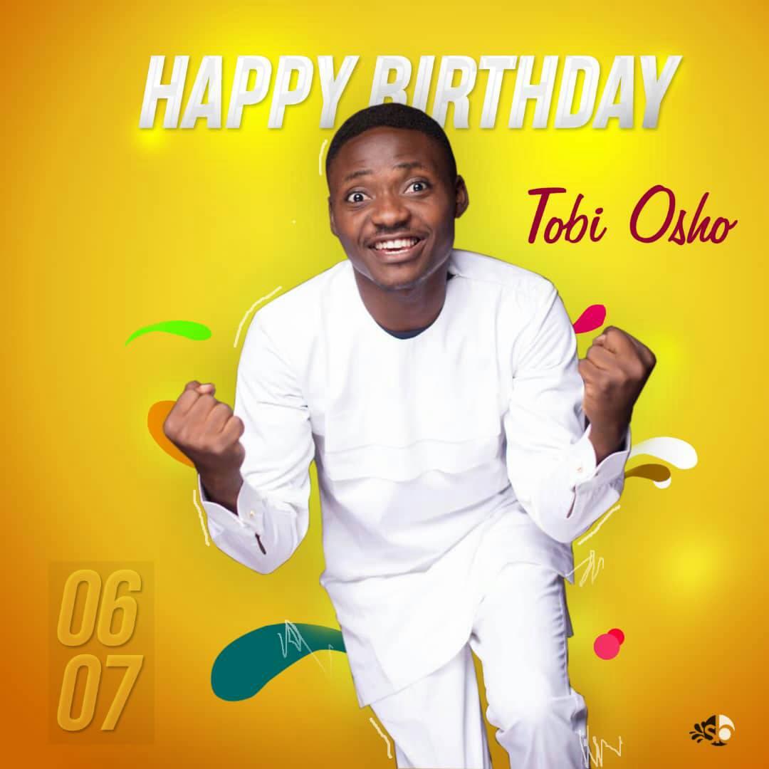 Fast-rising Gospel Artiste, Tobi Osho celebrates Birthday with classy pictures