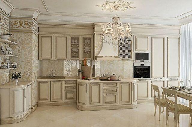 Klasik Bej Mutfak - İç Tasarım