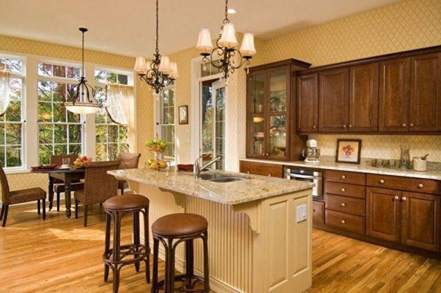 Bej Mutfak Tasarımı - Aydınlatma