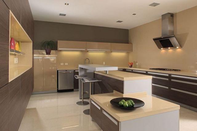 Bej mutfak tasarımı: 70 fotoğraf ve fikir