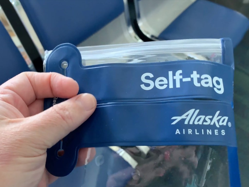 Alaska Airlines Self-tag
