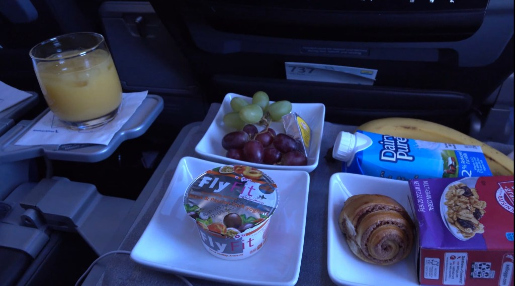 American Airlines Continental Breakfast