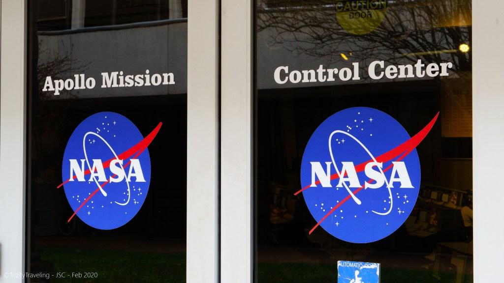 doors to the nasa apollo mission control center