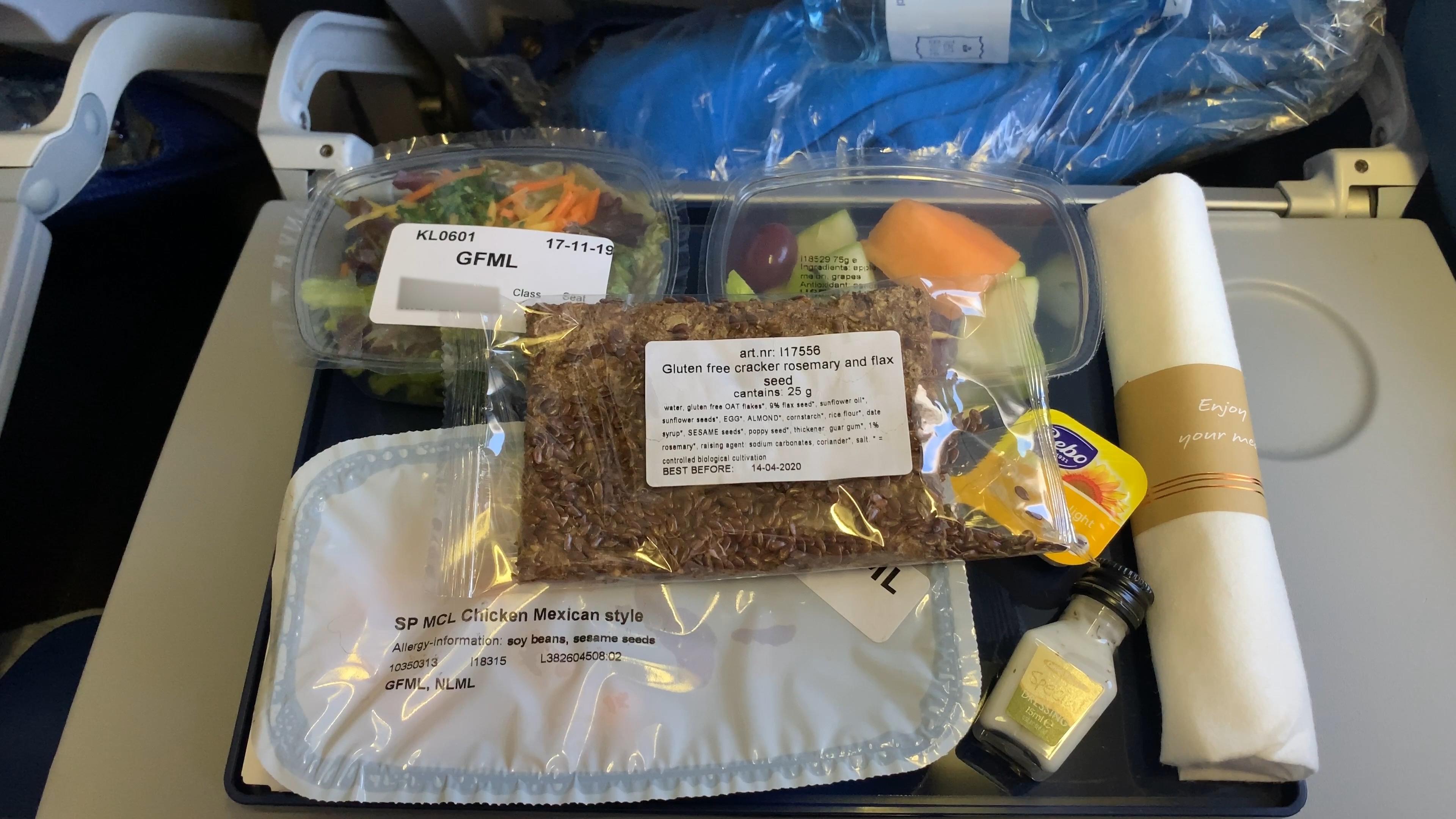 klm gluten free lunch