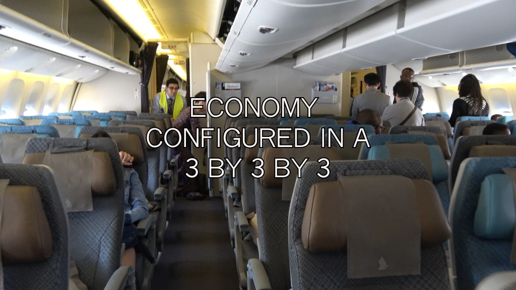 Singapore airlines boeing 777 economy cabin