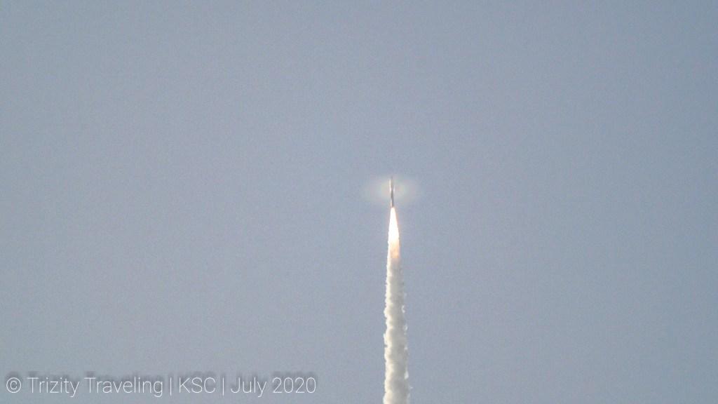 Perseverance Rover launching atop an Atlas V rocket