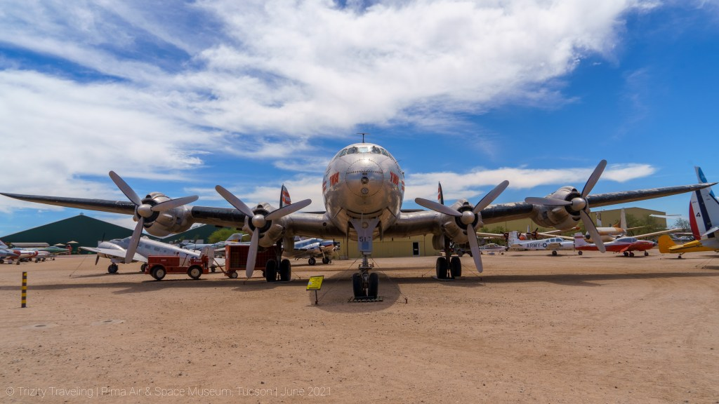 Head on with a Lockheed Constellation in TWA livery