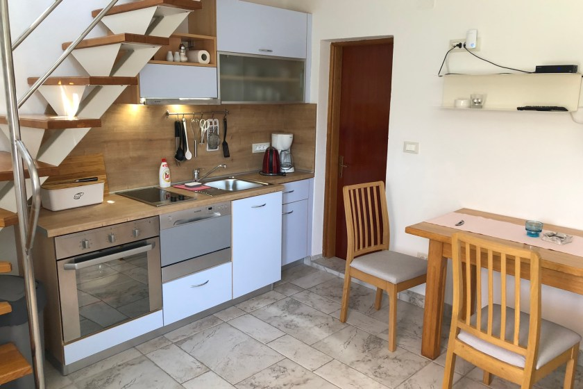 Kitchen, living & dining room