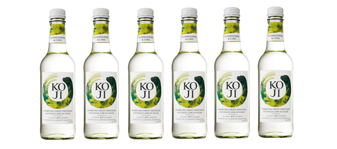 Drink Spotlight: KOJI Elderflower & Lime Sparkling Fruit Infusion