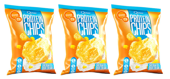 Snack Spotlight: Quest Cheddar & Sour Cream Protein Chips
