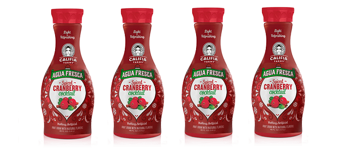 Drink Spotlight: Califia Farms Spiced Cranberry Cocktail Agua Fresca