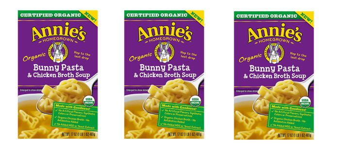 Food Spotlight: Annie's Organic Bunny Pasta & Chicken Broth Soup