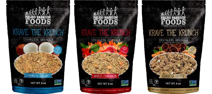 Food Spotlight: Paleo Passion Foods Introduces KRAVE THE KRUNCH Grainless Granola!