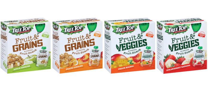 Industry News: Tree Top Launches Fruit & Grains and Fruit & Veggies Pouches