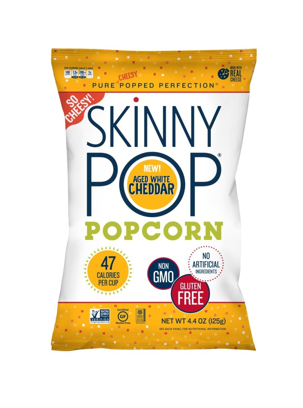 SkinnyPop Real Cheese Aged White Cheddar (PRNewsfoto/Amplify Snack Brands, Inc.)