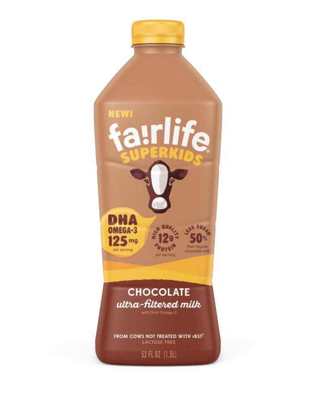 SuperKids™ Chocolate ultra-filtered milk (PRNewsfoto/fairlife, LLC)