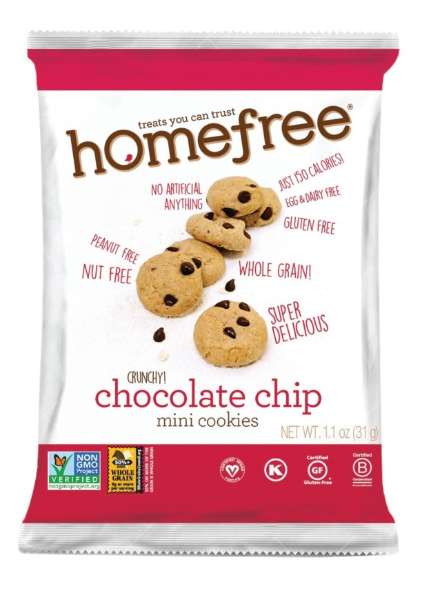 Homefree Chocolate Chip Mini Cookies (PRNewsfoto/Homefree, LLC)