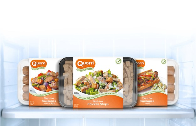 Quorn's new refrigerated products (PRNewsfoto/Quorn Foods)