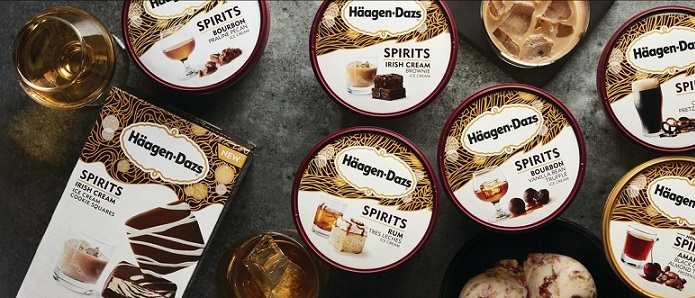 Introducing The Spirits Collection: Seven incredible combinations of the finest spirits and your favorite Häagen-Dazs® ice creams.