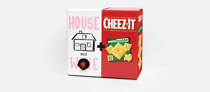 Packaging Spotlight: The Pack Is Back! Cheez-It® White Cheddar And Refreshing House Wine Rose Combine For Year Two Toast