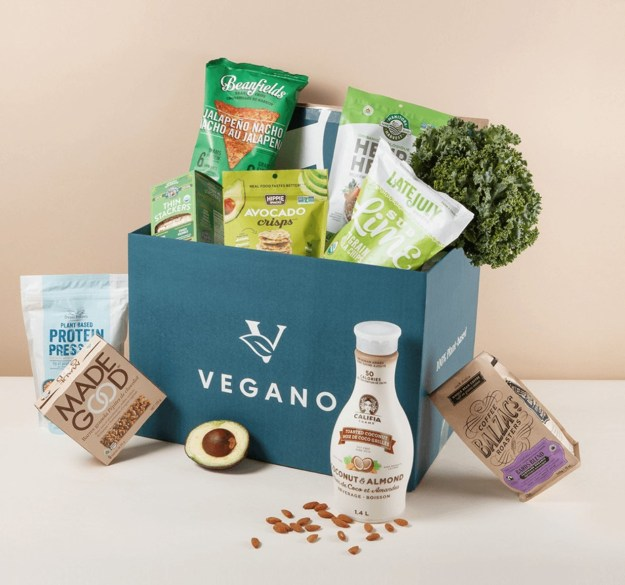 Plant-based products available through Vegano Foods online marketplace