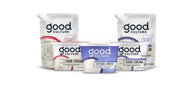 Good Culture's new products include Lactose Free Sour Cream, Lactose Free Cottage Cheese with Probiotics and the FIRST squeezable lactose free sour cream pouch - all made with simple ingredients including gut-friendly live and active cultures and pasture-raised milk.