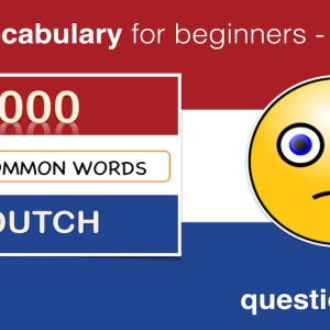 LEARN DUTCH LESSON 5 – QUESTIONS