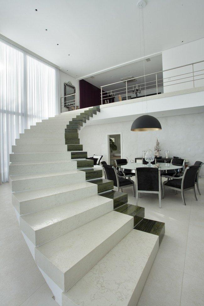 design escalier moderne salon