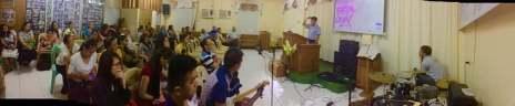 During church service in Marikina
