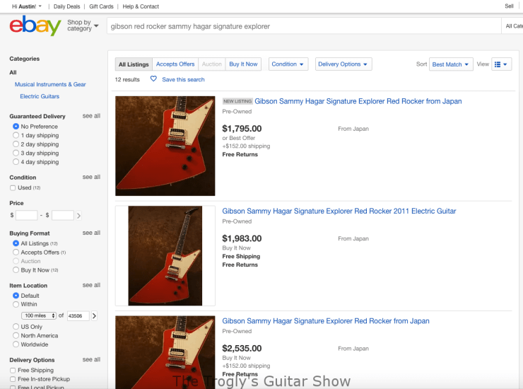 This Is Not A Scam Multiple Ebay Listings Of The Same Guitar The Trogly S Guitar Show