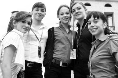 Les hôtesses d'accueil du festival