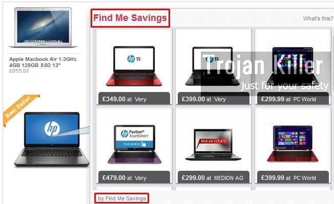 Find Me Savings ads