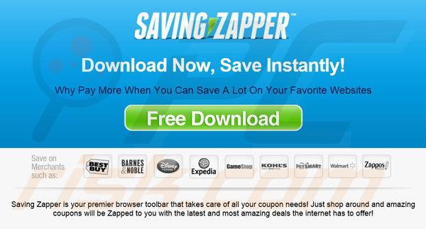Saving Zapper adware